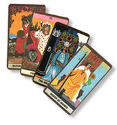 Fanned out Tarot Cards